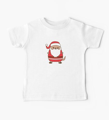 Cute Christmas Santa Pupsheen Baby Tee