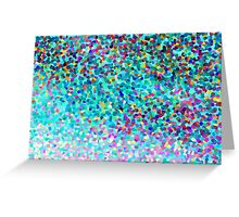 Aqua Blue Multicolored Abstract Art Shapes Pattern Greeting Card