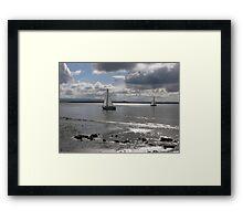 Yachts, Burnham-on-Sea. Framed Print