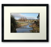 River through Adelong NSW Framed Print