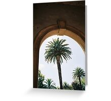 Palm Trees and Architecture Greeting Card