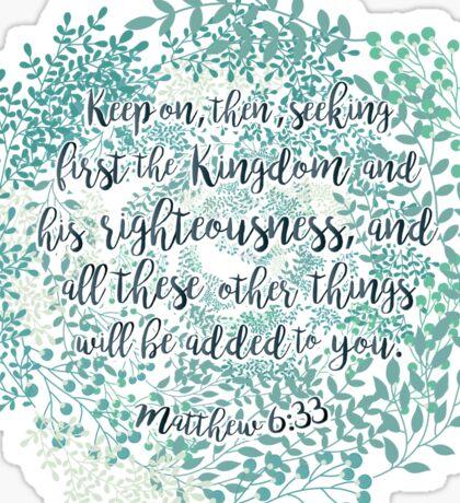 Matthew 6:33 Sticker