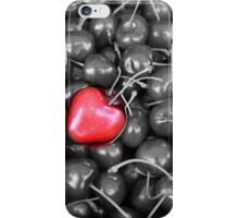 cherries with heart love iPhone Case/Skin