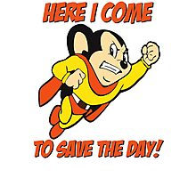 Mighty Mouse - Here I Come To Save The Day T Shirt Photographic Print