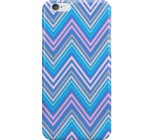 Periwinkle Blue Pink and Gray Chevron Abstract Pattern iPhone Case/Skin