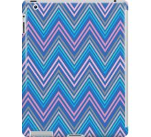 Periwinkle Blue Pink and Gray Chevron Abstract Pattern iPad Case/Skin