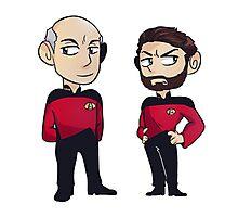 Star Trek - The Next Gen: Picard & Riker Photographic Print
