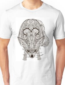 Zentangle fennec fox Unisex T-Shirt