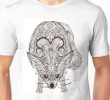 Zentangle vector fox or fennec Unisex T-Shirt