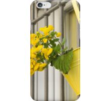 yellow flowers on the balcony iPhone Case/Skin