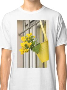 yellow flowers on the balcony Classic T-Shirt