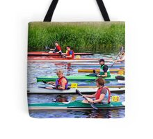 Burton Canoe Race, The Start Tote Bag
