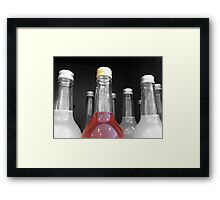 SELECTIVELY COLOURED BOTTLE Framed Print