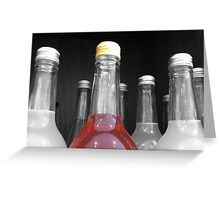 SELECTIVELY COLOURED BOTTLE Greeting Card
