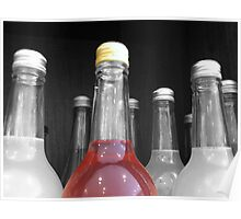 SELECTIVELY COLOURED BOTTLE Poster