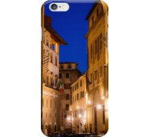 Florence street at night iPhone Case/Skin