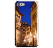 Florence street at night iPhone Case/Skin