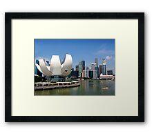 Cityscape across the harbour Framed Print