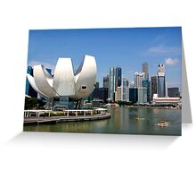 Cityscape across the harbour Greeting Card