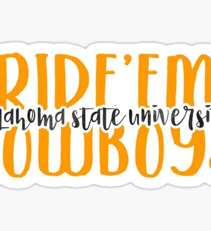 Oklahoma State - Style 9 Sticker