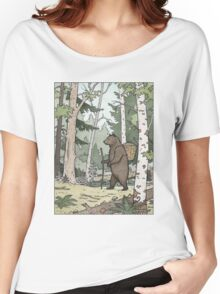 Bear in the Woods Women's Relaxed Fit T-Shirt
