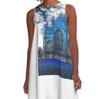 Lincoln Cathedral In Blue A-Line Dress
