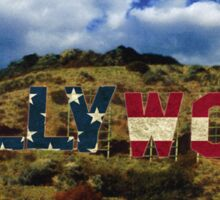 American Hollywood sign Sticker