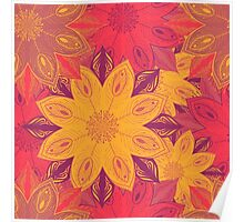 Hand drawn autumn seamless pattern Poster