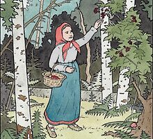 Masha picking berries by ChristmasPress