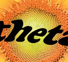 Theta Sunflower Sticker
