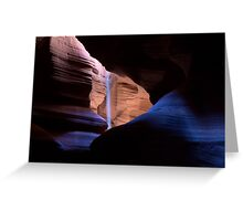 Blue River of Light Greeting Card