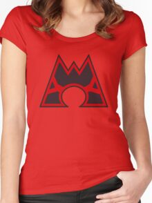 Team Magma Symbol Women's Fitted Scoop T-Shirt