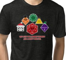 Polyhedral Pals - Merry CritMiss! Tri-blend T-Shirt