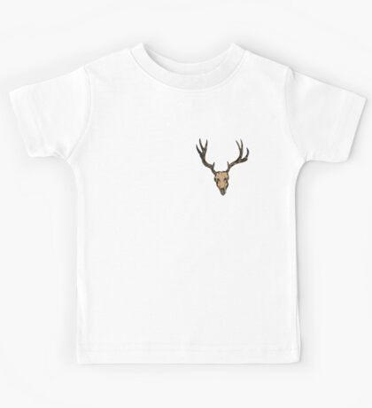 brown deer skull Kids Tee