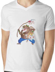 Moblin Around Mens V-Neck T-Shirt