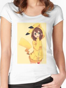 K-ON x Pikachu Women's Fitted Scoop T-Shirt