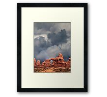 Rainbow Over Turret Arch Framed Print