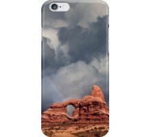 Rainbow Over Turret Arch iPhone Case/Skin