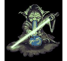 "Yoda - ""Lightsabor Bong"" Photographic Print"