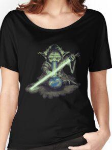 """Yoda - """"Lightsabor Bong"""" Women's Relaxed Fit T-Shirt"""