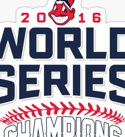 Cleveland Indians Champions World Series 2016 Sticker