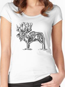 Tribal Moose Women's Fitted Scoop T-Shirt