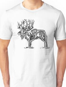Tribal Moose Unisex T-Shirt