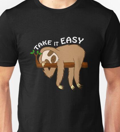 Take it Easy Sloth T-Shirt Men Women Unisex T-Shirt