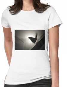 Trapped Butterfly Womens Fitted T-Shirt