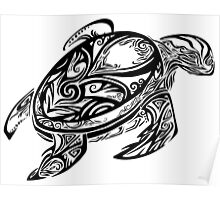 Tribal Turtle Poster