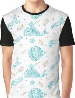 Underwater nautical seamless pattern Graphic T-Shirt