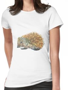 Hedgehog art Womens Fitted T-Shirt