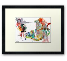 Drifting Particles Framed Print