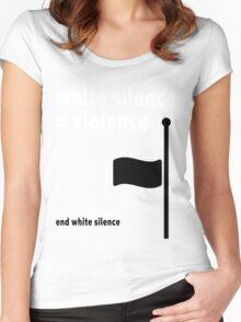 White Silence - Black Lives Matter Women's Fitted Scoop T-Shirt